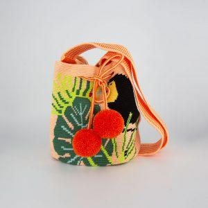 Toucan Medium Tropical Print Bucket Bag Shoulder bag bucket bag