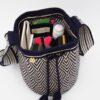 Escama Medium Bucket Bag Navy / Beige Bags bucket bag